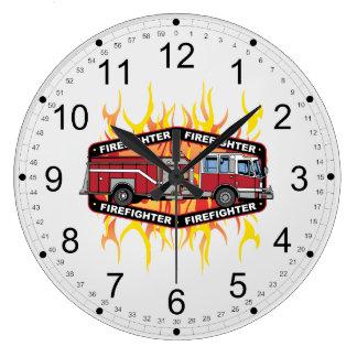 Feuerwehrmann-Löschfahrzeug Wanduhren