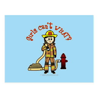 Feuerwehrmann-Mädchen Postkarten