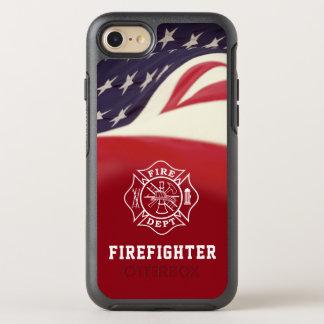 Feuerwehrmann-Malteserkreuz iPhone Fall OtterBox Symmetry iPhone 8/7 Hülle