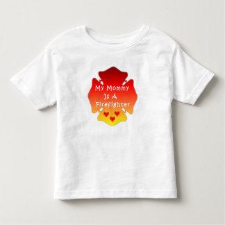 Feuerwehrmann-Mamma Kleinkind T-shirt