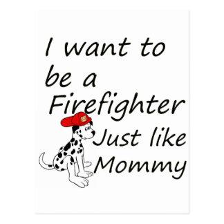 Feuerwehrmann mögen Mama Postkarte