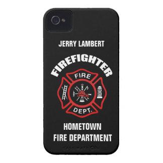 Feuerwehrmann-Namensschablone iPhone 4 Case-Mate Hüllen