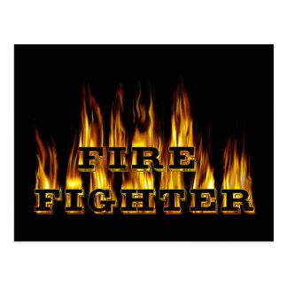 Feuerwehrmann Postkarte