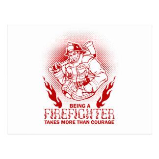 Feuerwehrmann Postkarten