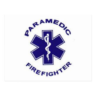 Feuerwehrmann-Sanitäter Postkarte