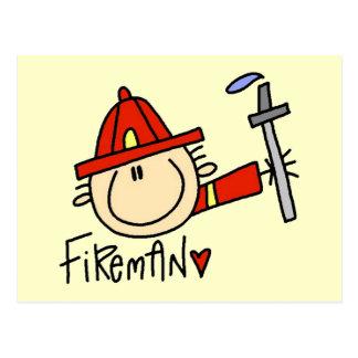 Feuerwehrmann-T-Shirts und Geschenke Postkarte