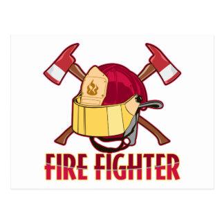 Feuerwehrmann-Tribut Postkarte