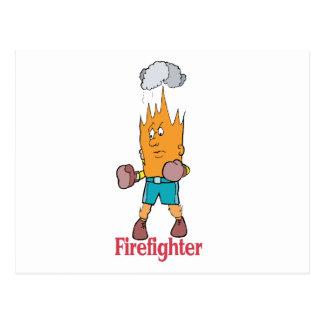 Feuerwehrmann - Wort-Spiel Postkarte
