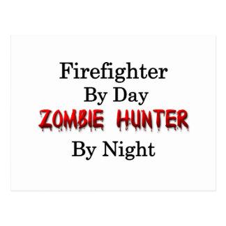 Feuerwehrmann-/Zombie-Jäger Postkarte