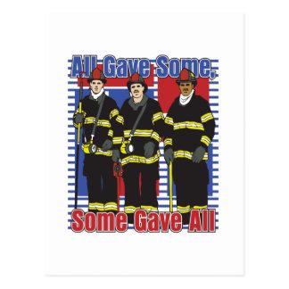Feuerwehrmänner einige gaben alle postkarte