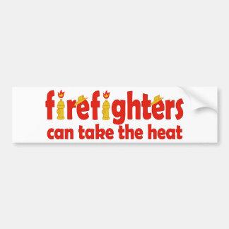 Feuerwehrmänner können die Hitze nehmen Autoaufkleber