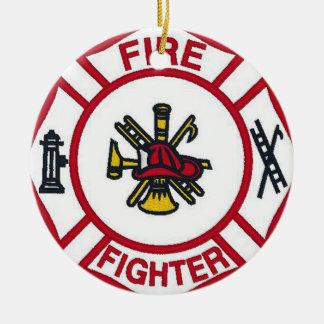 Feuerwehrmannverzierung Rundes Keramik Ornament