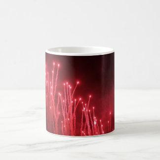 Feuerwerk-rote Glanz-Tasse Verwandlungstasse