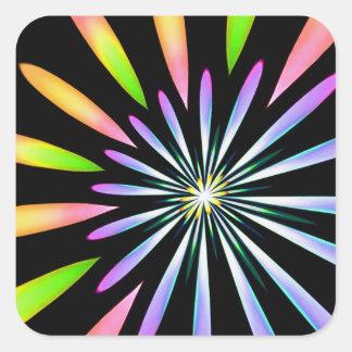 Feuerwerke 1 quadratischer aufkleber