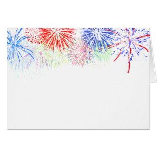 Feuerwerke auf freiem Raum (addieren Sie Grußkarte