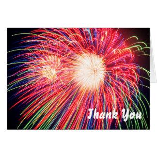 Feuerwerke danken Ihnen Mitteilungskarte