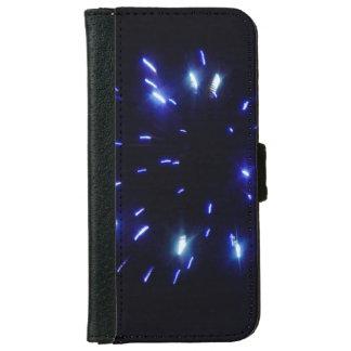 Feuerwerke, die Blau strahlen Geldbeutel Hülle Für Das iPhone 6/6s