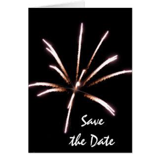 Feuerwerke, die Save the Date Mitteilung Wedding Grußkarte