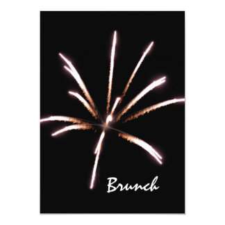 Feuerwerks-Posten-Hochzeits-Brunch-Einladung 12,7 X 17,8 Cm Einladungskarte