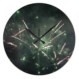 Feuerwerks-Uhr Große Wanduhr