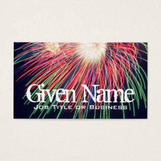 Feuerwerks-Visitenkarte Visitenkarten