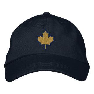 Feuille d'érable brodée par broderie canadienne chapeaux brodés