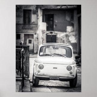 Fiat 500, Cinquecento, in Italien-Plakat Poster