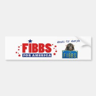 FIBBS FÜR AMERIKA und Schaumgummiringe für Autoaufkleber