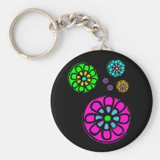 Fibonacci flower power porte-clé rond