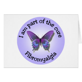 Fibromyalgia-Bewusstsein notecard - addieren Sie Karte