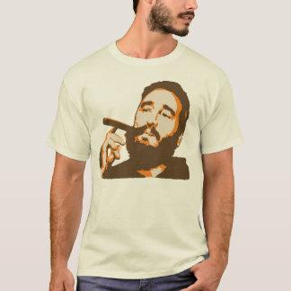 Fidel Castro mit Zigarren-Porträt-T - Shirt