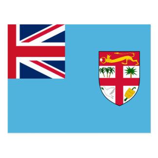 Fidschi-Flagge FJ Postkarte