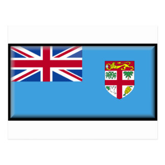 Fidschi-Flagge Postkarte