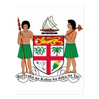 Fidschi-Wappen Postkarte