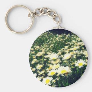 Field of little flowers porte-clé rond