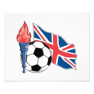 fierté BRITANNIQUE britannique du football Prospectus 11,4 Cm X 14,2 Cm