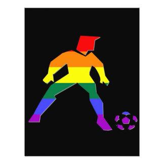 Fierté du football de GLBT Prospectus 21,6 Cm X 24,94 Cm