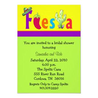 Fiesta-Brautparty-Einladungen Karte