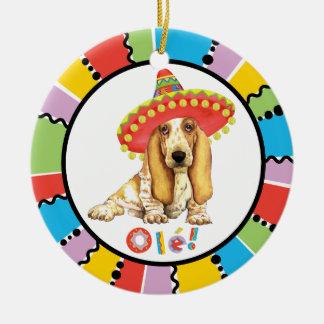 Fiesta-Dachshund Keramik Ornament
