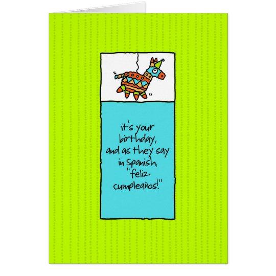 Fiesta-Geburtstags-Karte Grußkarte