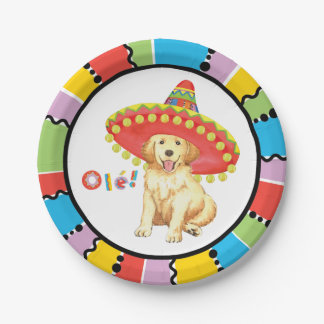 Fiesta-golden retriever pappteller