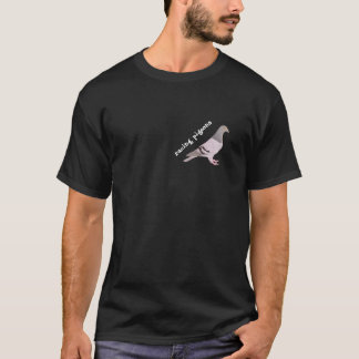 Figur blaue Brieftaube T-Shirt