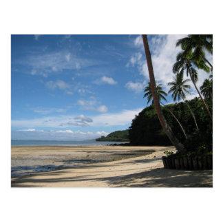 Fijian-Strand-Postkarte Postkarte