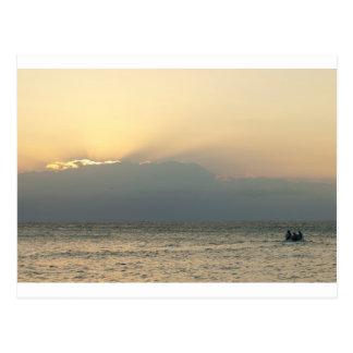 Fijianinselboot Postkarte