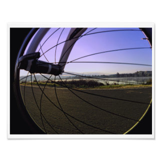 Fikeshot durch das Rad Fotodruck