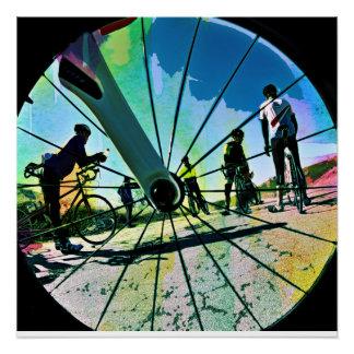 Fikeshot durch das Rad Poster
