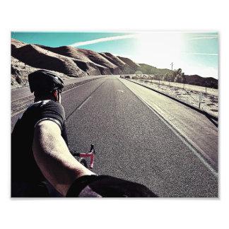 Fikeshot unter der hohen Wüste Sun. Fotodruck