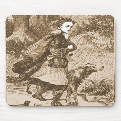 Fille de conte de fées tapis de souris
