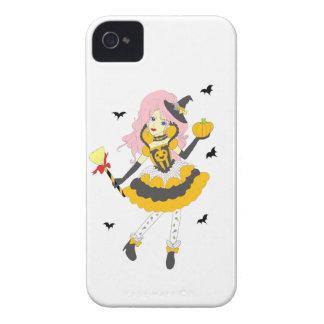 Fille heureuse de citrouille de Halloween Coques Case-Mate iPhone 4