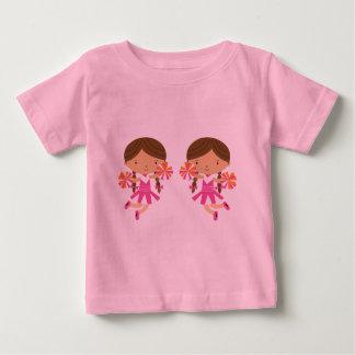 Filles Cheeleader de jumeaux Tee-shirts